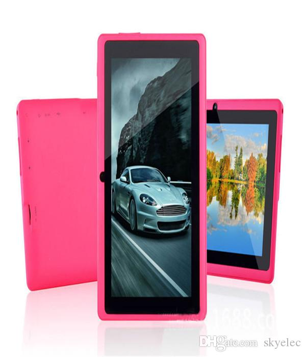 Q8 7 inch A33 Quad Core Tablet Allwinner Android 4.4 KitKat Capacitive 1.5GHz 512MB RAM 4GB ROM WIFI Dual Camera Flashlight Cheapest MQ50
