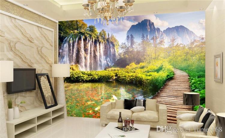 fond photo personnalisée fond d'écran beau paysage peint salle enfants Sofa TV peinture arrière 3D grand tableau mural