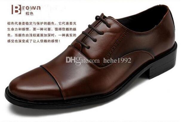 grandes chaussures habillées d'affaires de taille des hommes ont fait des chaussures en dentelle populaire trois têtes XL 38-47 Livraison gratuite