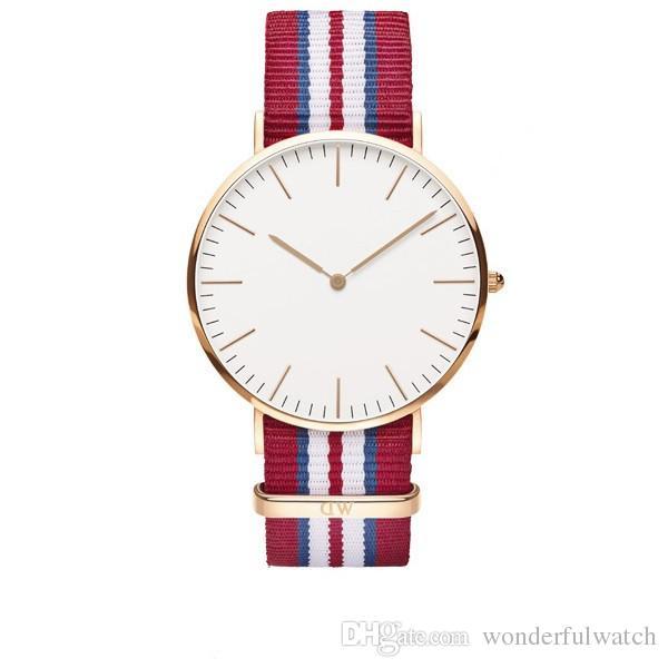 uxury Brand Style D&W Watches For Men Women Gold Dial Nylon Strap Military Quartz Wrist watches