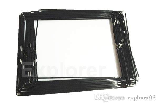 شاشة LCD تعمل باللمس منتصف مدي الإطار الأوسط بمادة لاصقة أسود أبيض لباد 2 3 4 البلاستيك الإطار الحافة لوط