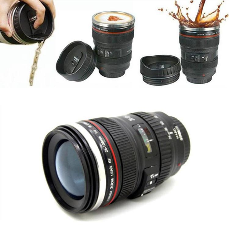 d539592859f Camera Lens Cup Coffee Tea Bottles 400ML Travel Mug Stainless Steel Thermos  SLR Lens Coffee Mugs IB249 Custom Travel Coffee Mugs Custom Travel Mugs  From ...