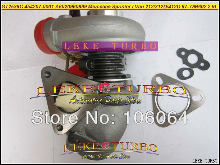 GT2538C 454207-0001 6020960899 For Mercedes-PKW Sprinter I Van 212D 312D 412D 2.9L OM611 141HP 2000-2006 turbocharger - (5)