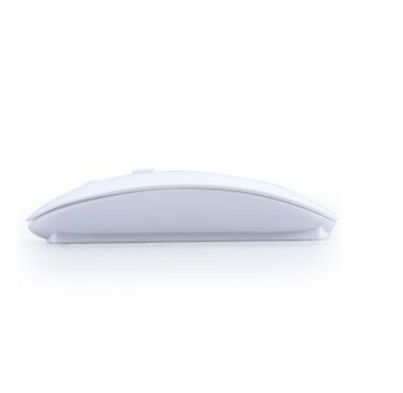 Atacado frete grátis Ultra Slim USB Wireless Mouse Branco Mini Mouse Óptico /