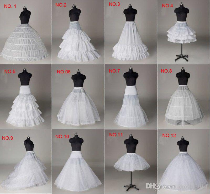 Em Estoque Hoops Bola Vestido De Noiva Petticoat Osso Completo Crinolina Anágua 2019 Casamento Saia Deslizamento Novo Frete Grátis