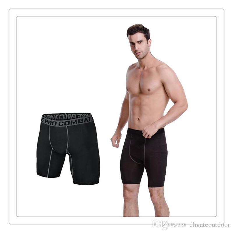 Yeni Şort PRO Kısa Erkekler Ince Gömme Sıkıştırma Aktif Şort Sweatpants Vücut Geliştirme Savaş Kuru Tayt Erkekler Kısa Pantolon Ücretsiz Kargo