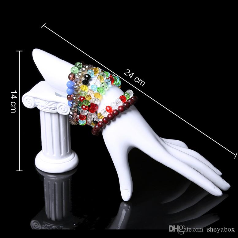 Resin Elegant Hand Model Bangle Bracelet Ring Display Stand Jewelry Displays for Shop Counter Window Shelf Hand Form