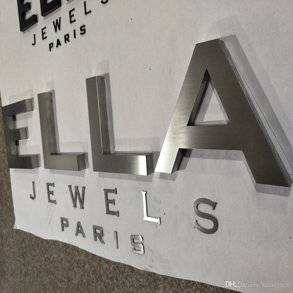 2019 custom business signs brushed stainless steel letters sign from sunsigncn 100403 dhgatecom