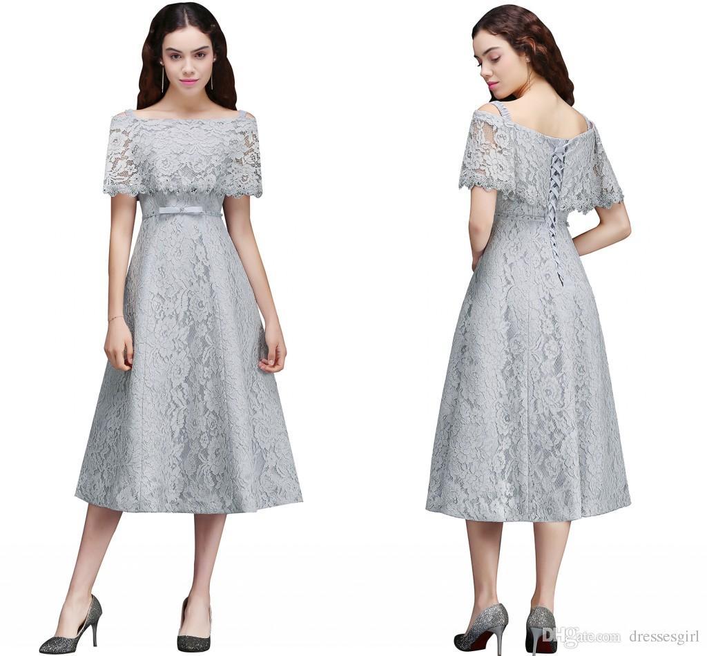 Großhandel Ziemlich Silber Volle Spitze Junior Brautjungfer Kleider ...