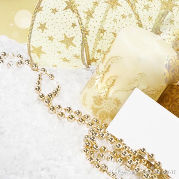 1spool 50 metros 3mm granos redondos plateado / oro guirnalda de la cadena de ajuste para el pelo Stying boda decoración del hogar artesanía