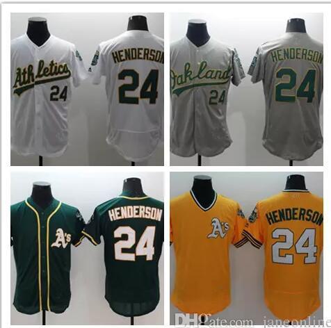 b3934df04 2017 24 Rickey Henderson Jersey Oakland Athletics Vintage Baseball Jersey  Throwback Jerseys Stitched Baseball Gray Green RickeyHendersonJersey960x540  ...