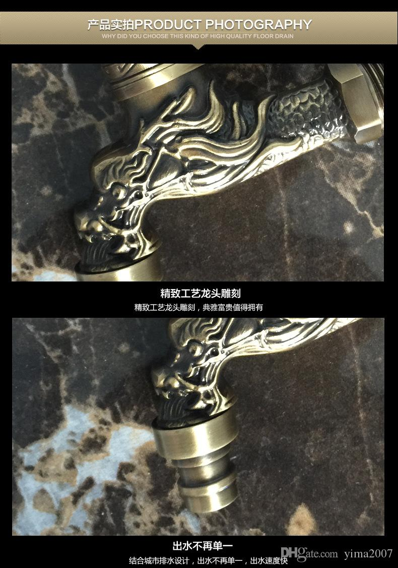 Wholesale brass tap suit for kitchen,toilet,shower room,Europe chrome-plated copper carve tap single handle single cold water sink taps