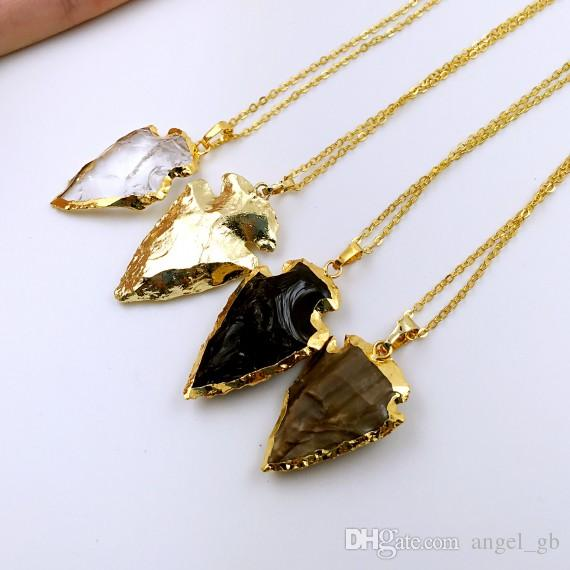 Wholesale crystal arrowhead arrow head pendant charms small gold wholesale crystal arrowhead arrow head pendant charms small gold arrowheads black obsidian arrowhead pendant stone arrowheads bulk choose color silver aloadofball Image collections