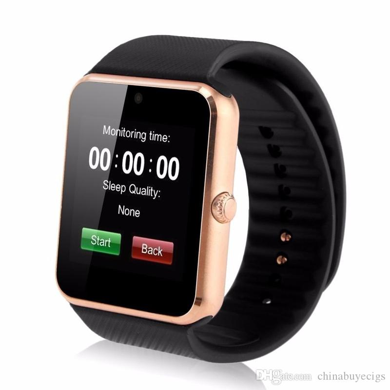 GT08 Smart Watch Bluetooth 6261D IC SIM Card Slot NFC Health Watchs Wear Android Samsung IOS Apple iphone Smartphone Bracelet Smartwatch DHL