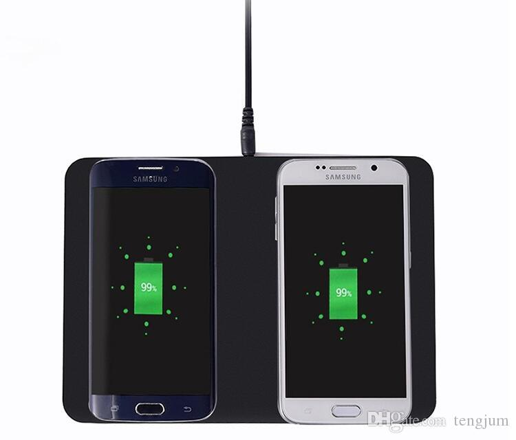 Itian Q300 Dual Qi Wireless Charger Pad Transmitter Charging Station for Samsung Note8/ S8 S8+ S7 Edge S7 Note5 S6 Edge+/S6 Edge