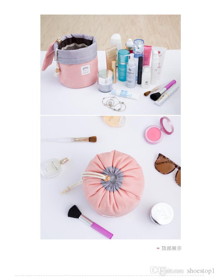 Wholesale mini bags Cosmetic Bags Cases, silk pink blue cosmetic make up bag Top quality Dropshipping Cheapest
