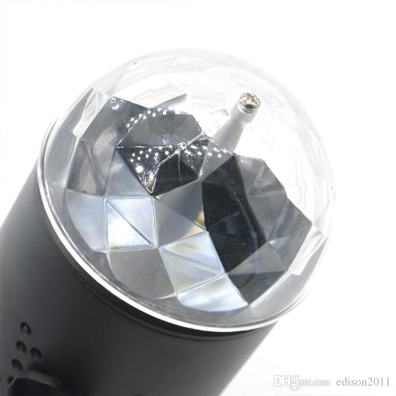 Edison2011 EU/US Plug New RGB 3W Crystal Magic Ball Laser Stage Lighting For Party Disco DJ Bar Bulb Lighting Show