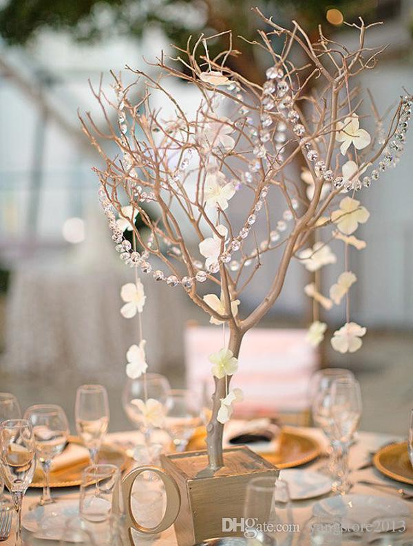 30m DIY Iridiscente Garland Diamond Acrylic Crystal Beads Strand Shimmer decoración de la boda envío gratis centros de mesa de la boda
