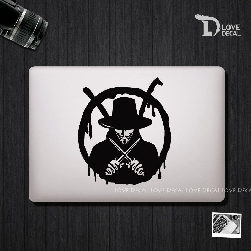 2018 v for vendetta macbook stickers macbook skin macbook decal laptop decal vinyl sticker air pro retina 13 15 17 from mydecal 4 42 dhgate com