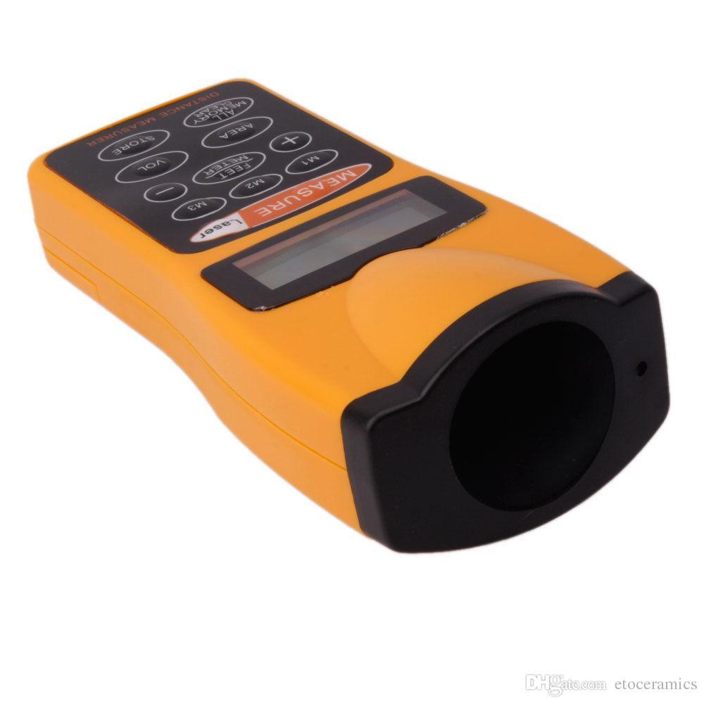 Misuratore di misurazione della distanza ad ultrasuoni con puntatore laser Nuovo misuratore di distanza del laser ad ultrasuoni LCD Misuratore di distanza Misurazione