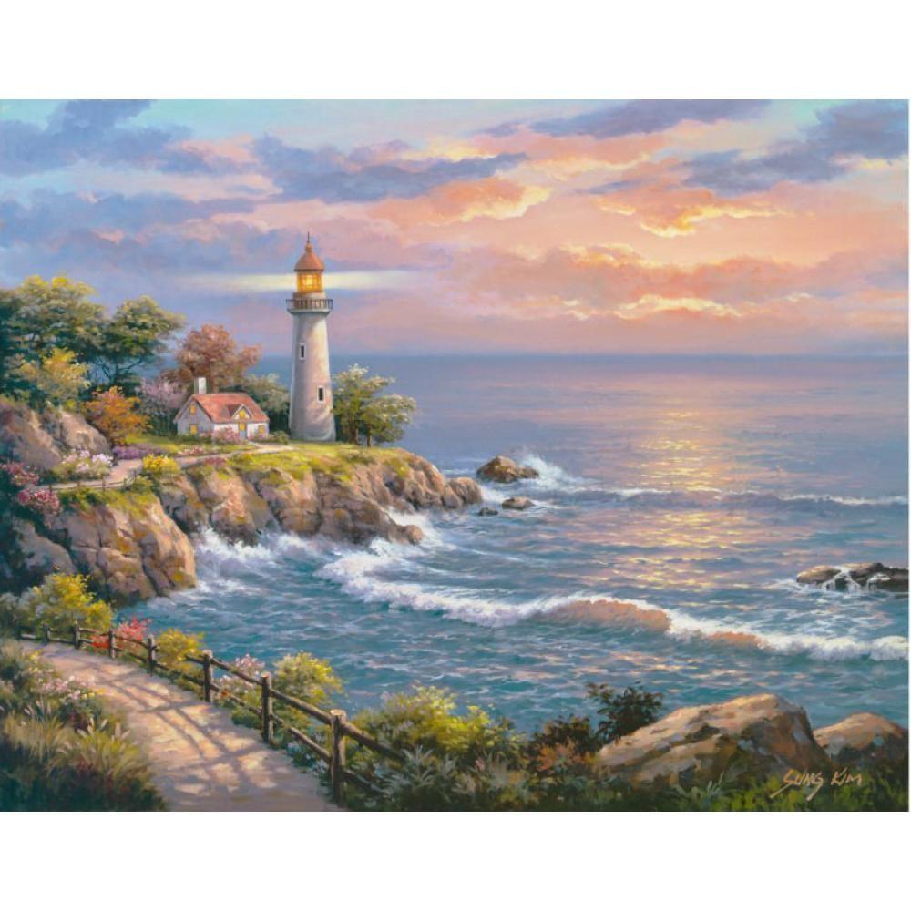 Acquista Decorati Art Sung Kim Sunset At Lighthouse Point Moderni ...