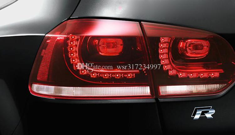 Car-styling High quality 3D R Chrome Emblems For VW Golf 7 Black and Red Car Badge Stckers Bumper Stickers AUTO Accessories