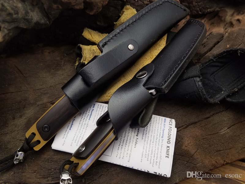 Hohe qualität Feste klinge Messer 7CR13MOV kalten stahl ebenholz Griff Extrema verhältnis Überlebens-kampieren Bevorzugtes Werkzeug