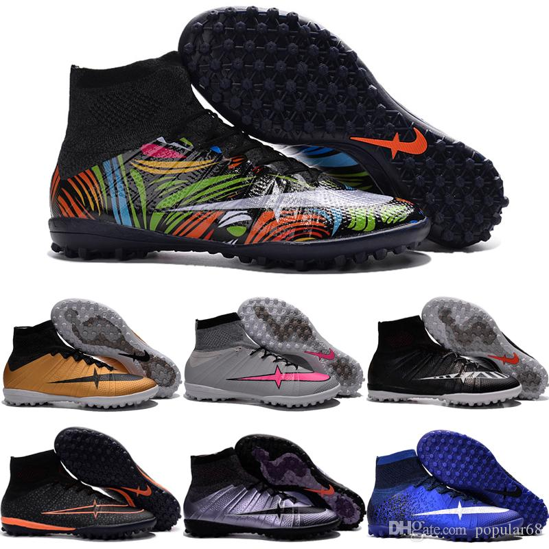 Drop Shipping Wholesale Football Shoes Men MercurialX Proximo Street Indoor  TF Soccer Boots High Quality Sport 0a9163acb