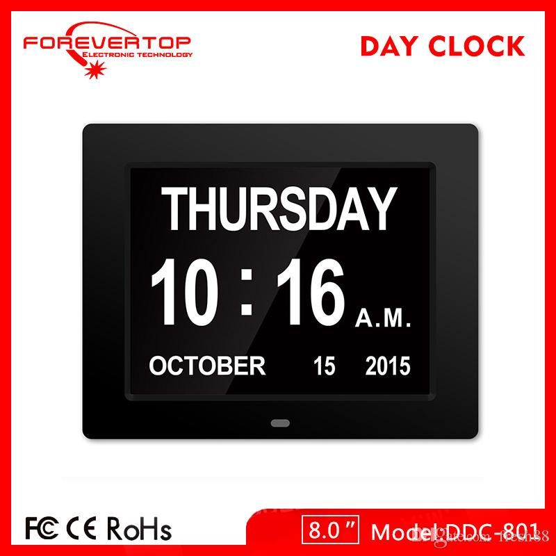 2018 Digital Large Day Date Time Clock Wall Desk Alarm Day Of Week