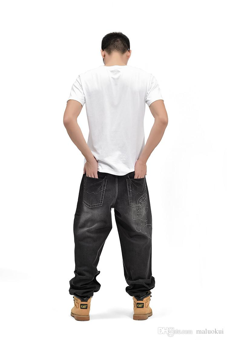 American Style Marke Mens Baggy Jeans Lose Plus Große Größe Jeans Männer Hip Hop Jeans Lange Skate Board Jean Harem Hosen