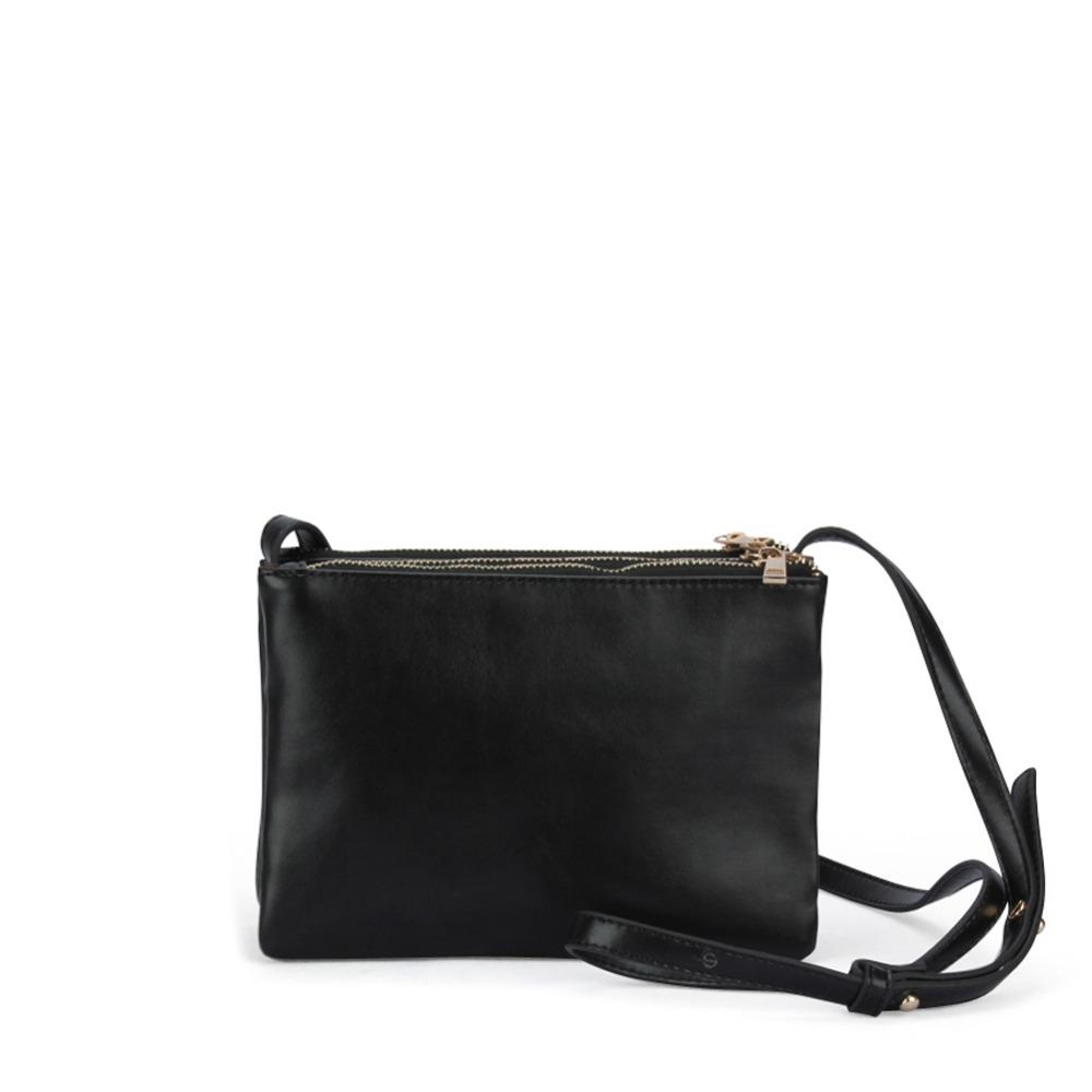 d3be68207501 Uggage Bags Handbags TRIPLE ZIPPER CROSSBODY BAG Women S Celebrity PU Faux  Leather Vintage Fashion Shoulder Messenger Sling Bag Pur.