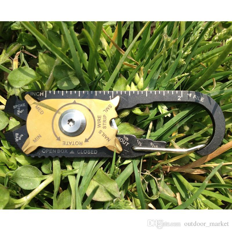 20 в 1 из нержавеющей стали отвертка ключ открывалка брелок карманный EDC мульти инструмент