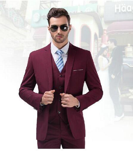 2016 High Quality Burgundy Wedding Tuxedo For Men Business Suits ...