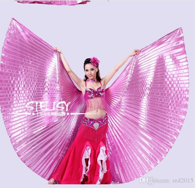 Wholesale-Gold Egypt Costume Isis Belly Dance Wings Dance Wear Wing With Adjustable Neck Collar Hot Worldwide