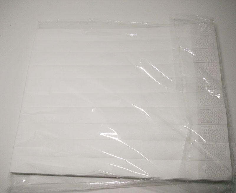 4847950fb5cd Pulseras Tyvek del color blanco sólido de envío libre al por mayor 3/4,  pulseras para eventos 500 piezas