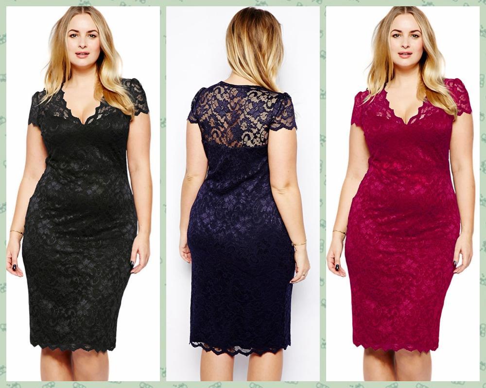 Großhandel Womens Kleidung Damen Blue Lace Shift Bleistift Formelle ...