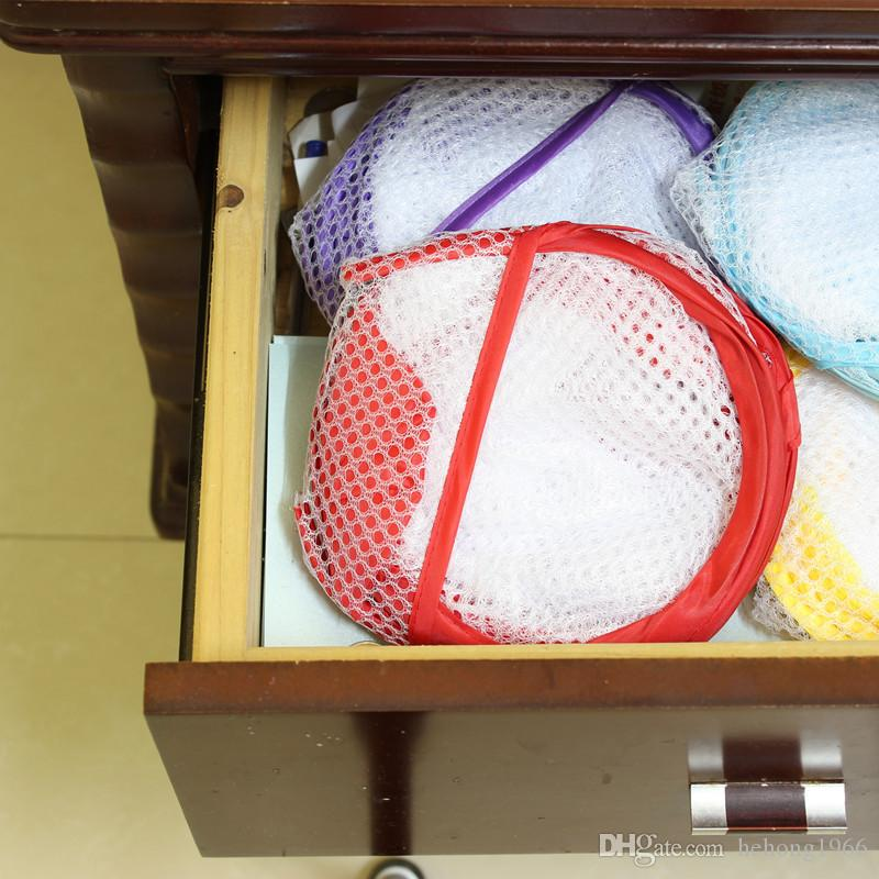 Laundry Basket Foldable Mesh Large Capacity Washing Clothes Hamper Practical Sundries Storage Bag Colorful Home Tool 2 4zh F R