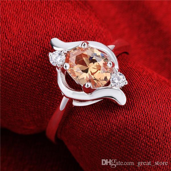 925 prata prata anéis hiperbólicos GSSR646 fábrica venda direta esterlina anel de dedo banhado a prata