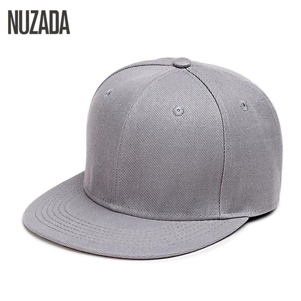 34115bee4ae Brand Nuzada Hip Hop Hats Men Women Baseball Caps Snapback Solid ...