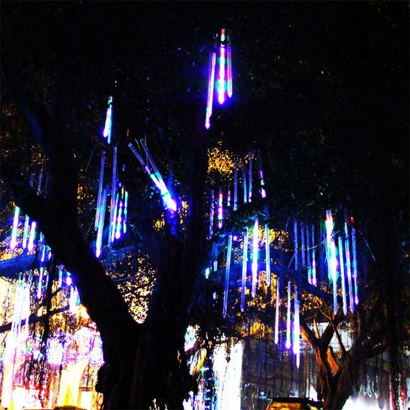 2016 New Meteor Shower Rain Tubes Led Light Lamp 30CM 2835 SMD AC85-265V EU US Plug Christmas String Light Wedding Garden Decoration Xmas