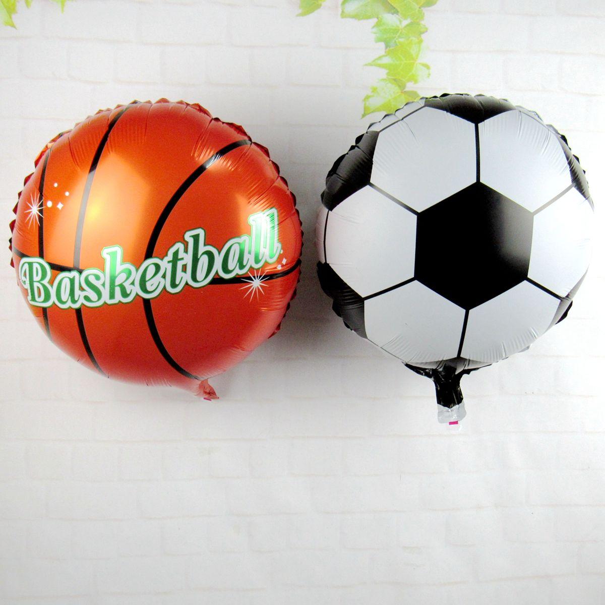 Grosshandel 50 Teile Los Fussball Basketball Folienballons