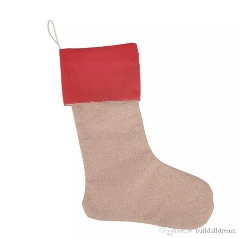 30*45cm Canvas Christmas Stocking Christmas Gift Bag Stocking Christmas Tree Decoration Socks Xmas Stockings 9 Styles 20171031