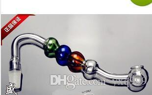 Farbe Vierfach Ball Topf, Großhandel Glas Shisha Zubehör, Bong Zubehör, kostenloser Versand, große besser