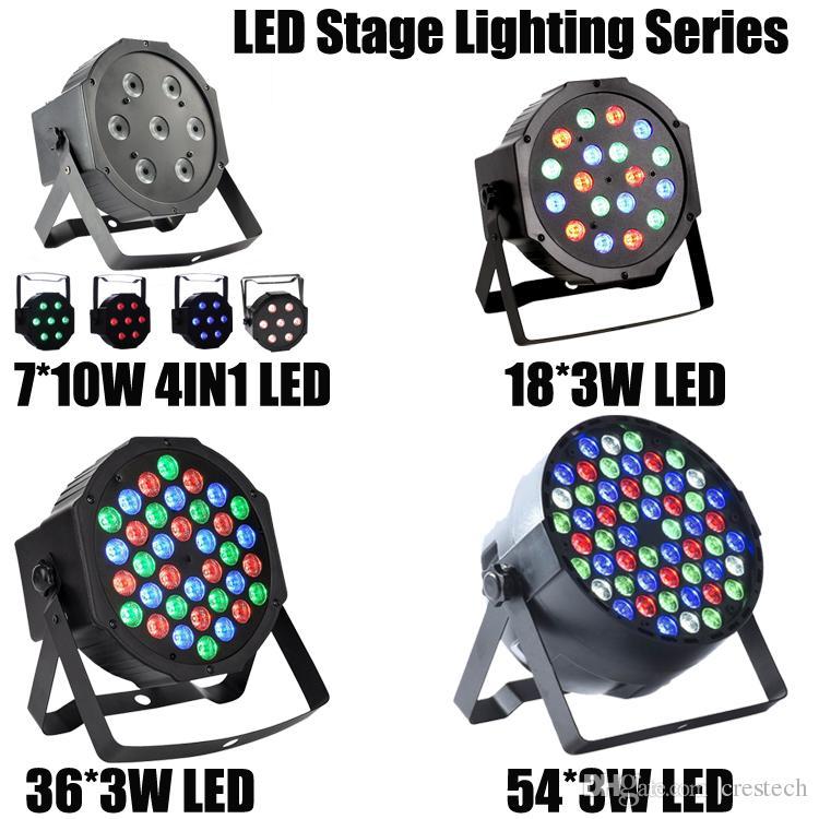 54X3 W LED DJ PAR RGBW 162Watt DMX 512 Stage Lighting Proiettore Discoteca la Festa Nuziale Domestica Concerto della Chiesa Illuminazione del Pista da ballo