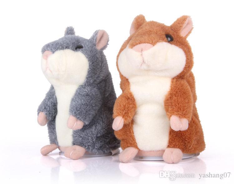 2017 hot christmas gift Talking Hamster Plush Toy Cute Speak Sound Record Hamster 15cm hamster pet talking record Mouse Plush Kids Toy