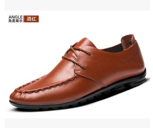 Homens de couro genuíno flats sapatos, marca artesanal homens sapatos de couro Casual, mocassim de couro, moda masculina sapatos