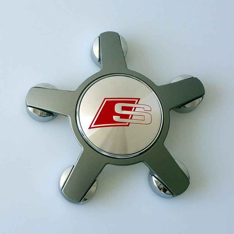 Five Spoke Wheel Center Tapas de buje para AUDI A4L 09 A6L A8L A8 con Sline SLINE RS