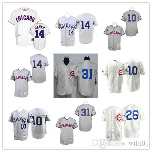8a34c1de ... Cubs Autographed Gray Jersey Inscribed 2017 Throwback Baseball Jerseys  10 Ron Santo 14 Ernie Banks 26 Billy Williams 31 Fergie Jenkins ...