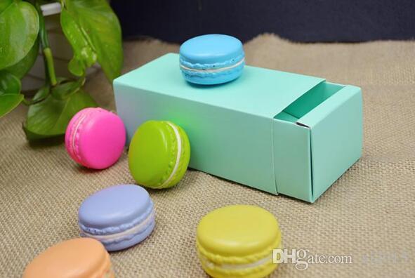 100 pçs / lote 2 Macaron Padaria Caixa para Biscoitos Biscoito Mooncake Embalagem De Biscoito Caixas De Papel Festa de Casamento Frete Grátis