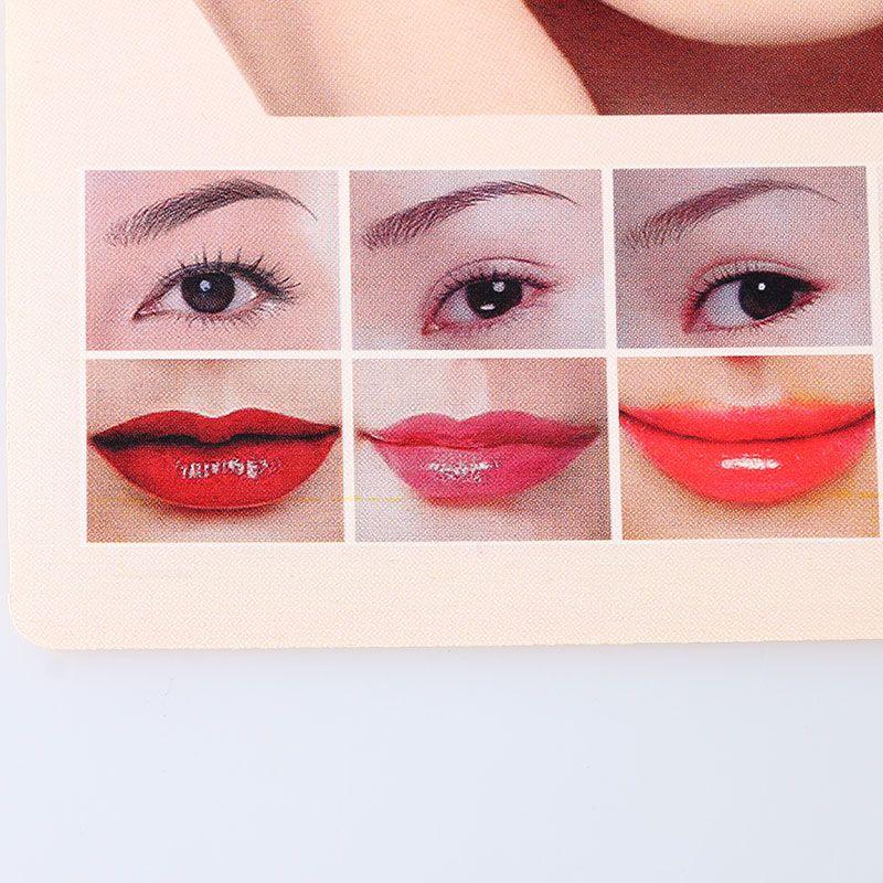 5 Stücke Tattoo 3D lippen Praxis Haut Besten Preis Tattoo Praxis Haut für Llips und Augenbrauen Tattoo Versorgung Mixed Design MUA732